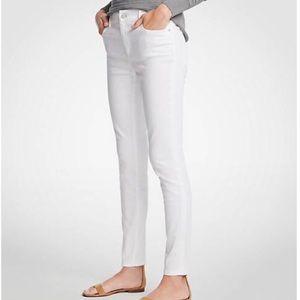 Ann Taylor White Modern Skinny Jeans